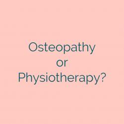 difference between osteopath and physiotherapist